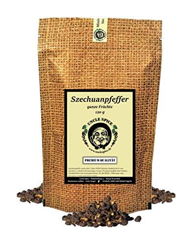 Uncle Spice Szechuan Pfeffer, Timut-Pfeffer - 120g Szechuanpfeffer - Premiumqualität - Timutpfeffer...