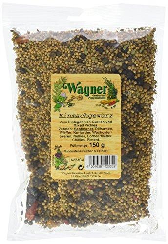 Wagner Einmachgewürz grob im 5er Pack (5 x 150 g) - aromatische Gewürzmischung zum Einmachen,...
