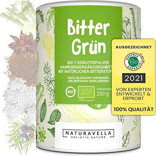 BitterGrün® Premium Bio Bitterstoffe 7 Kräuter-Pulver vom Experten I Nach Hildegard von Bingen...