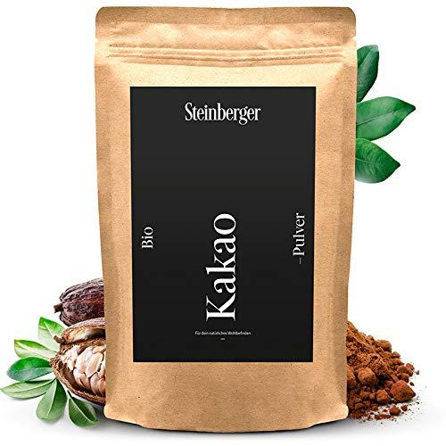 Premium BIO Kakaopulver von Steinberger | ungesüßtes stark entöltes Kakaopulver zum Verfeinern...