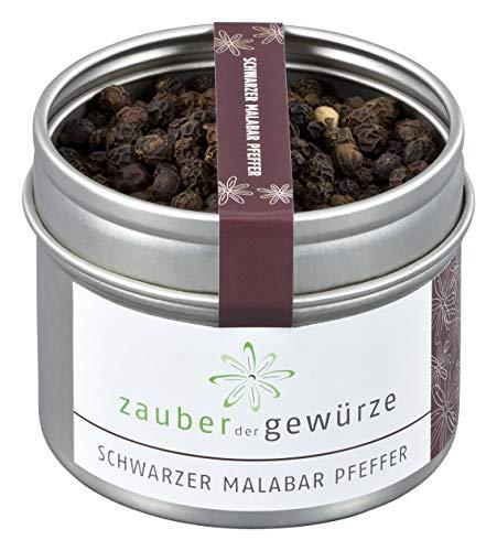 Zauber der Gewürze Schwarzer Malabar Pfeffer in Premium-Qualität - grober schwarzer Pfeffer in...