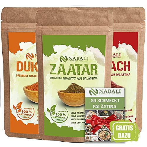 NABALI FAIRKOST FÜR ALLE Zaatar & Dukkah & Sumach Qualitätsware aus Palästina I 100% naturell...
