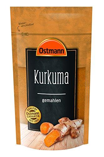 Ostmann Kurkuma gemahlen 250 g, feines Kurkuma-Pulver, Gewürz für indische Gerichte & Curry,...