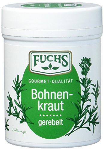 FUCHS Bohnenkraut gerebelt, Gewürz mit leicht pfeffriger Note (aromatische Kräuter in Dose), 3er...