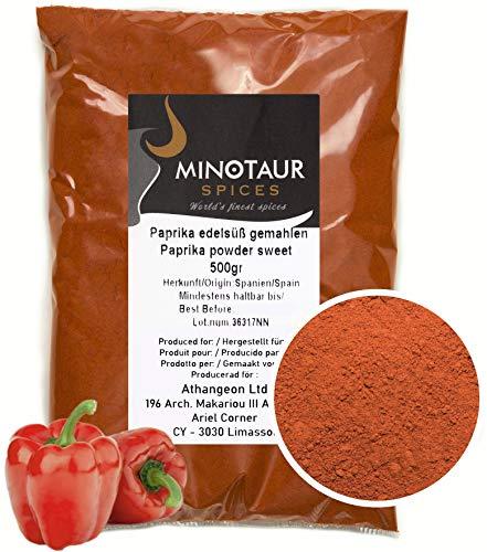 Minotaur Spices   Paprika edelsüß gemahlen, Paprikapulver mild, 2 X 500g (1 Kg)