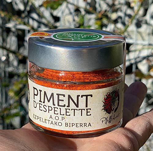 Piment d´Espelette AOP original 40g im Glas - Chili mit fruchtiger & dezenter Schärfe NEUE ERNTE...