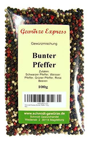 Gewürze-Express Bunter Pfeffer, ganz, mit Rosa Beeren, 100g