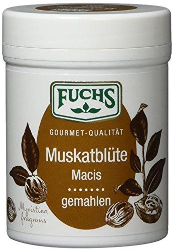Fuchs Muskatblüte gemahlen Muskat-Gewürz Macis, perfekt als Glühwein- und Kuchengewürz, in...