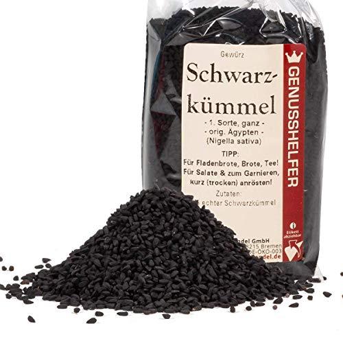 Schwarzkümmel 100 Gramm ganz, leicht scharfe schwarze Sesamsamen, ohne Zusatzstoffe & ohne...