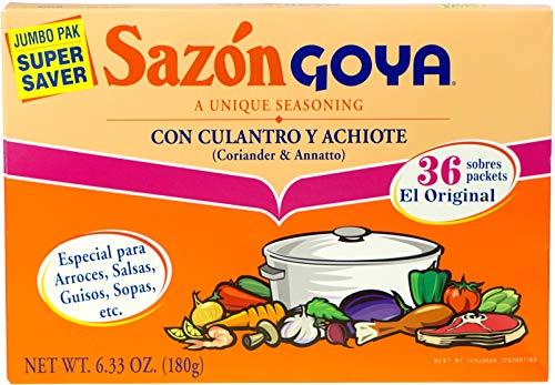 SAZON GOYA CORIANDER & ANNATTO SEASONING JUMBO PACK 36 SACHETS 180g BOX