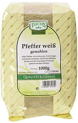 Fuchs Pfeffer weiß gemahlen, 1er Pack (1 x 1 kg)