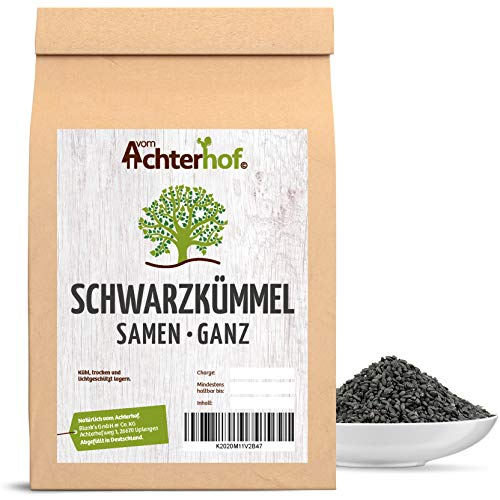 Achterhof 1 kg Schwarzkümmel ägyptisch Schwarzkümmelsamen ganz nigella sativa