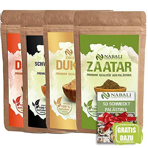 NABALI FAIRKOST FÜR ALLE Zaatar & Dukkah & Schwarzkümmel & Dukkah leicht scharf Qualitätsware aus...