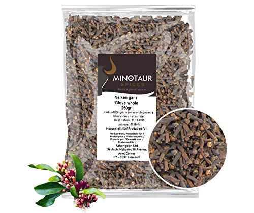Minotaur Spices   Nelken ganz, Gewürznelken   2 X 250g (500 g)  